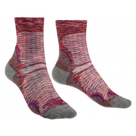 Ponožky Bridgedale Hike Ultra Light T2 Merino Performance Women's multi pink/130