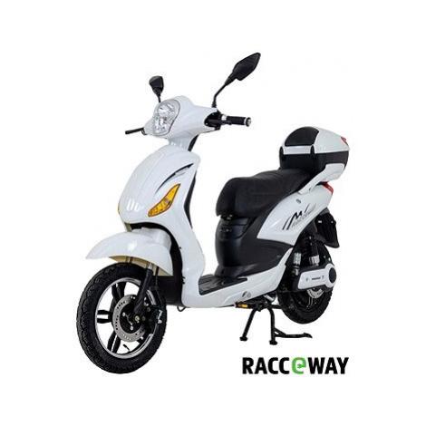 Racceway E-Moped, 12Ah, bílý-lesklý