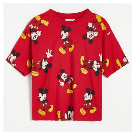 Reserved - Tričko Mickey Mouse - Červená