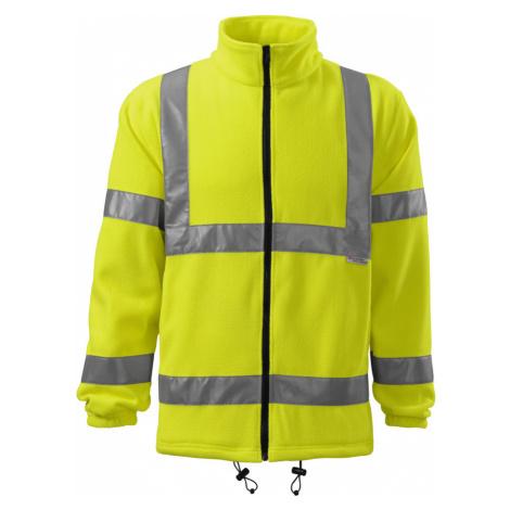 RIMECK Uni fleecová bunda 5V197 reflexní žlutá