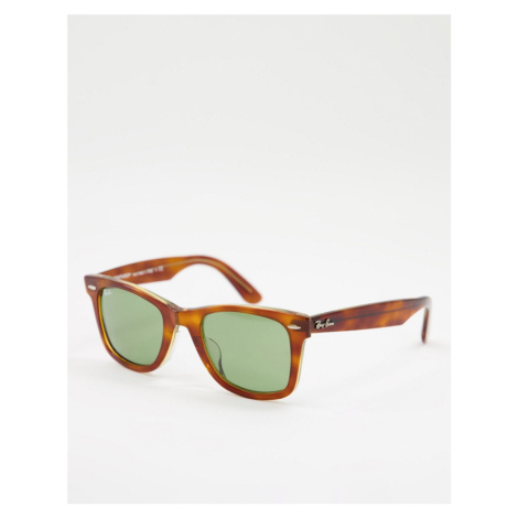 Rayban square lens sunglasses in tortoise shell-Brown Ray-Ban