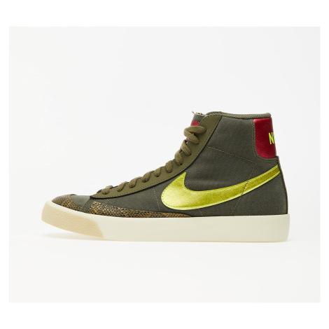 Nike Wmns Blazer Mid '77 Medium Olive/ Lemon Venom-Fossil