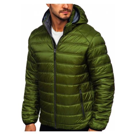 Zelená pánská prošívaná zimní sportovní bunda Bolf BK111 FREESTEP