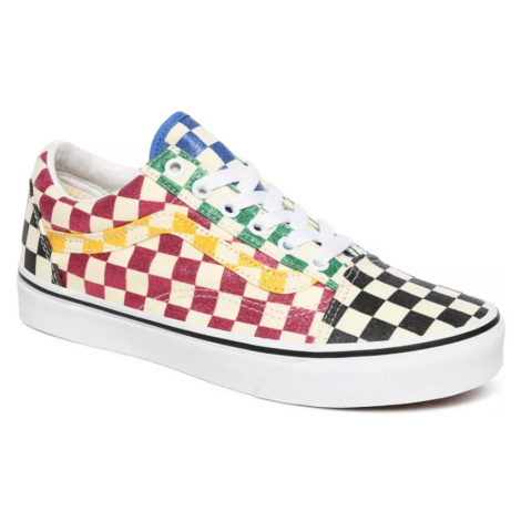 Boty Vans Old Skool glitter check multi/true white
