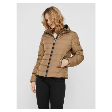 Béžová prošívaná zimní bunda VERO MODA Clarisa
