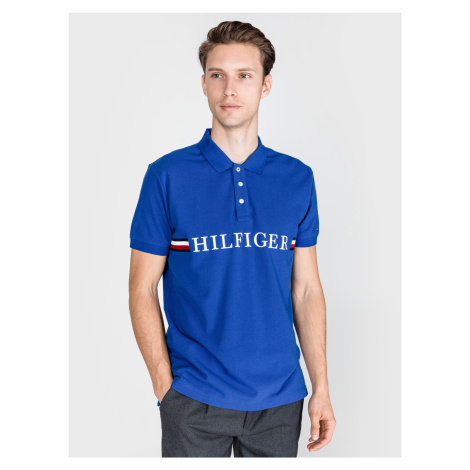 Polo triko Tommy Hilfiger Modrá