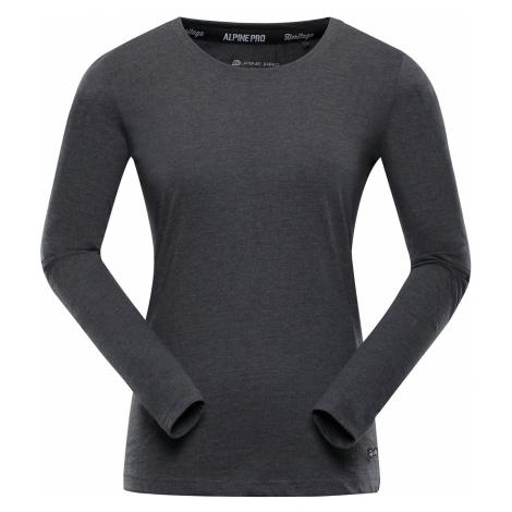 ALPINE PRO AMOSA Dámské triko s dlouhým rukávem LTSP508779 tmavě šedá