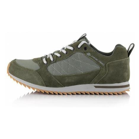 Peredur zelená kožená obuv s antibakteriální stélkou ALPINE PRO