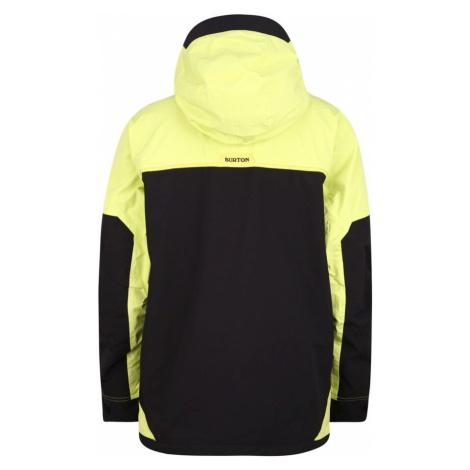 BURTON Outdoorová bunda černá / žlutá