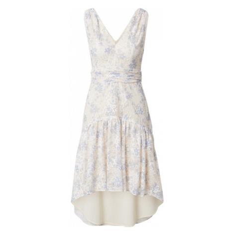 Chi Chi London Koktejlové šaty 'KANNA' krémová / kouřově modrá