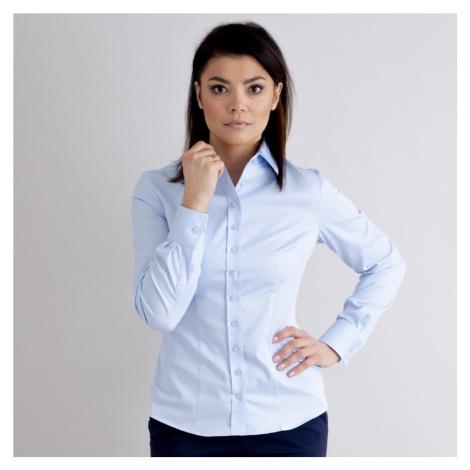 Dámská košile Long Size světle modrá 12603 Willsoor