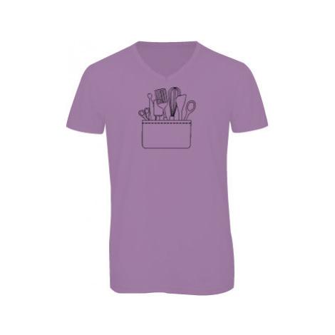 Pánské triko s výstřihem do V Kapsa