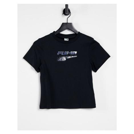 Puma Evide graphic t-shirt in black