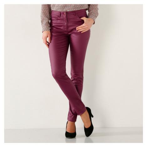 Kalhoty,vn.délka 76cm purpurová