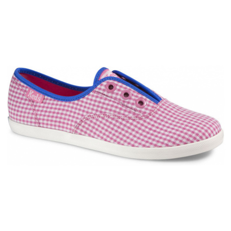 Rookie Laceless Gingham Pink/White Keds