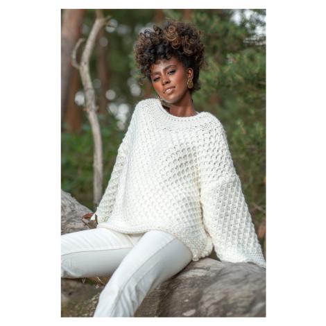 Dámský pletený svetr s vlnou