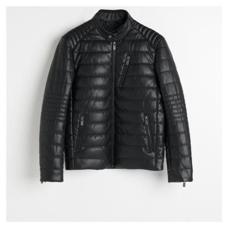 Reserved - Prošívaná bunda v motorkářském stylu - Černý