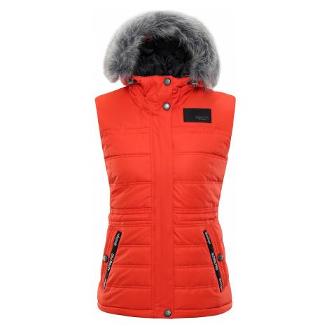 Dámská vesta Alpine Pro JARVISA 2 - červeno-oranžová