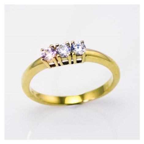 Dámský zásnubní prsten ze žlutého zlata AN432297Z
