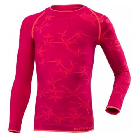 Klimatex BIGGY růžová - Funkční dívčí termo triko
