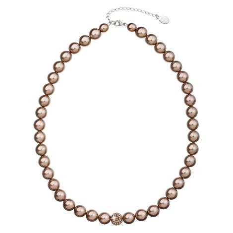 Evolution Group Perlový náhrdelník hnědý 32011.3