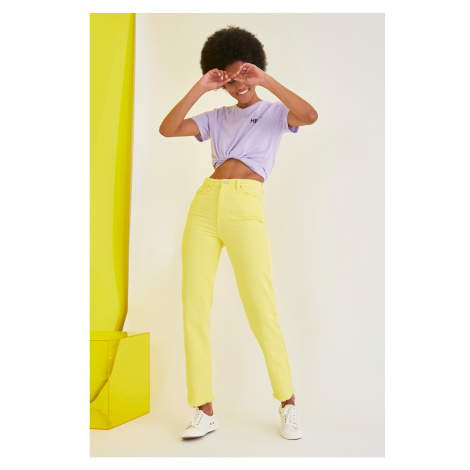 Trendyol Yellow High Waist Bootcut Jeans