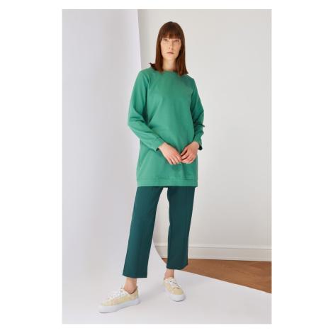 Trendyol Petrol Waist Elastic Trousers