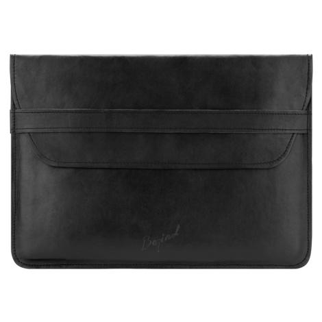 Bagind Namek Sirius - Dámský i pánský kožený obal na notebook černý, ruční výroba, český design