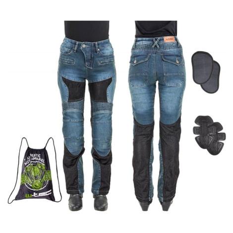 Dámské moto jeansy W-TEC Bolftyna Barva modro-černá