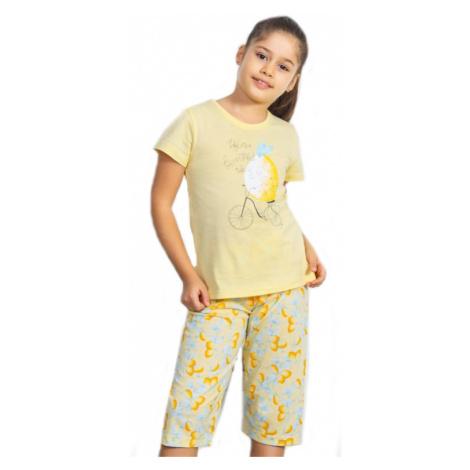 Dětské pyžamo kapri Vienetta Secret Citron | žlutá