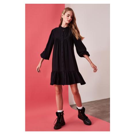 Trendyol Black Wide Cut Shirt Dress