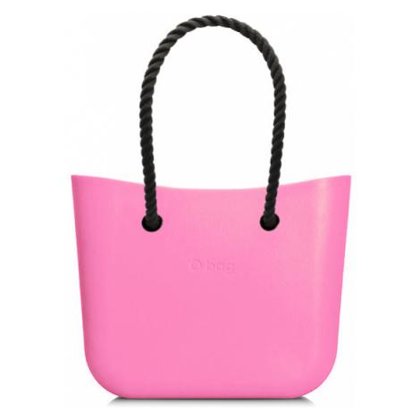 Kabelka obag mini pink s provazem černá O bag