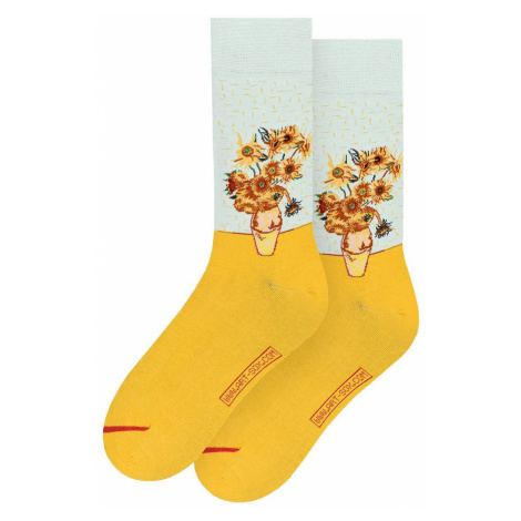 MuseARTa - Ponožky Vincent van Gogh - Vase with Twelve Sunflowers