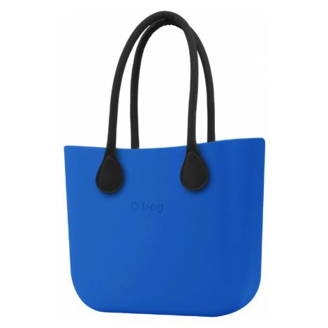 O bag kabelka Imperial Blue s černými dlouhými koženkovými držadly