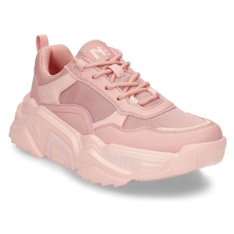 Růžové dámské tenisky na vyšší podešvi Baťa