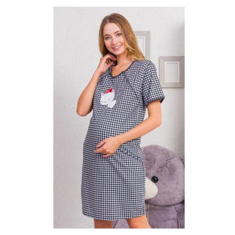 Dámská noční košile mateřská Koťátko, XL, tmavě šedá Vienetta Secret