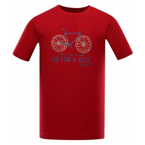 ALPINE PRO AMIT 8 Pánské triko MTST583445PD purpurová