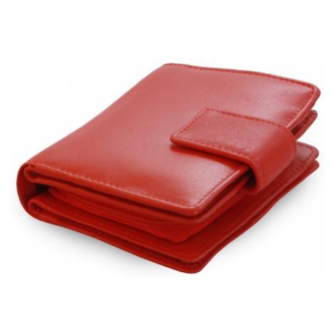 Červená dámská kožená peněženka Makenzie Arwel