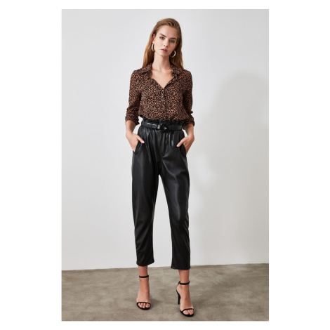 Trendyol Brown Leopard Patterned Shirt