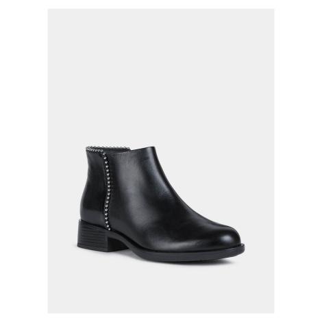 Geox černé kožené kotníkové boty