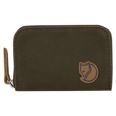 Peněženka Fjällräven Zip Card Holder Barva: tmavě zelená