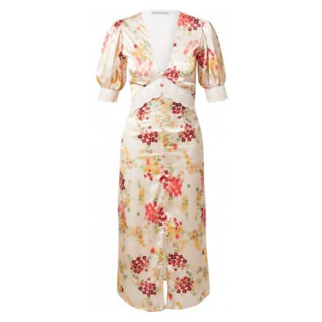 Hope & Ivy Košilové šaty 'THE MABEL' béžová / červená / trávově zelená / oranžová / merlot Hope and Ivy