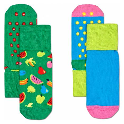 2-Pack Kids Fruit Anti Slip Happy Socks