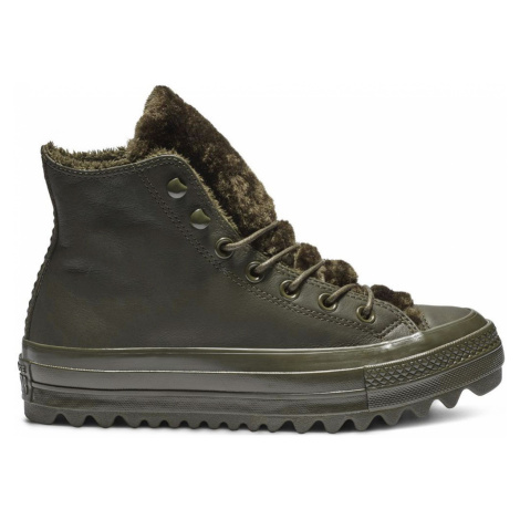 Converse Chuck Taylor All Star Lift Ripple Hi Leather černé 562425C
