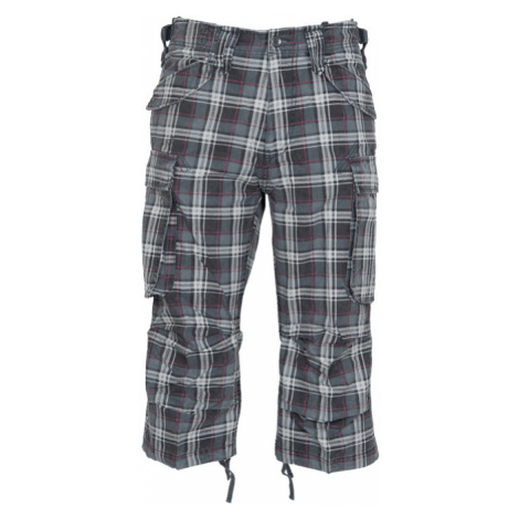 Brandit Kalhoty Industry Vintage 3/4 kostkované šedá   černá   fialová