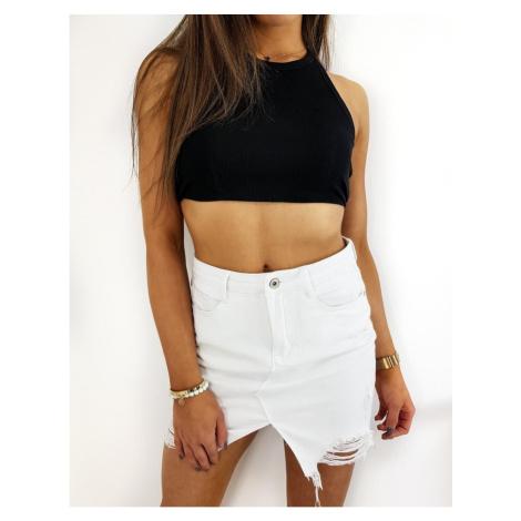 Denim skirt FUSIM white CY0258 DStreet