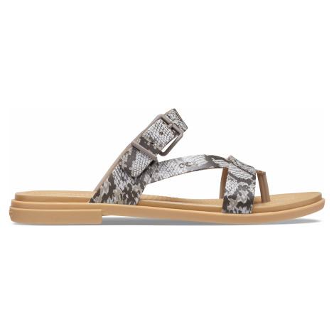 Crocs Crocs Tulum Toe Post Sandal W Mushroom/Stucco W9