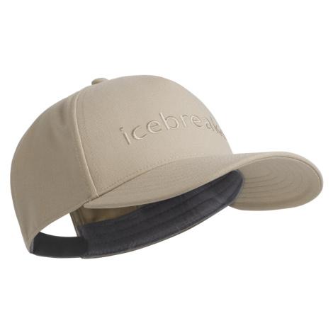 Čepice ICEBREAKER Adult Icebreaker Logo Hat, British Tan Icebreaker Merino
