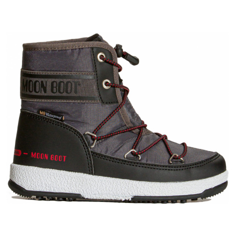 Sněhule Moon Boot JR BOY MID WP 2 šedá