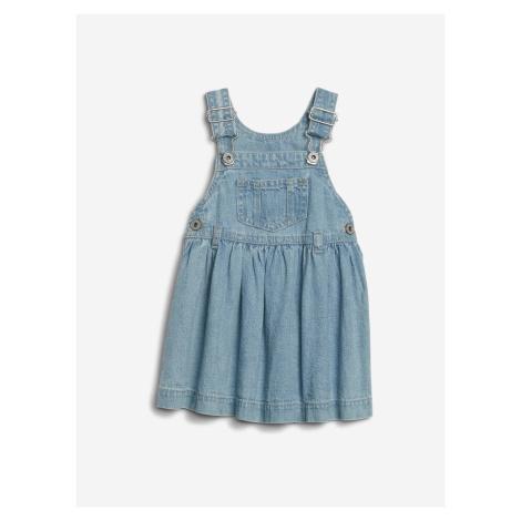 Šaty s laclem dětské GAP Modrá